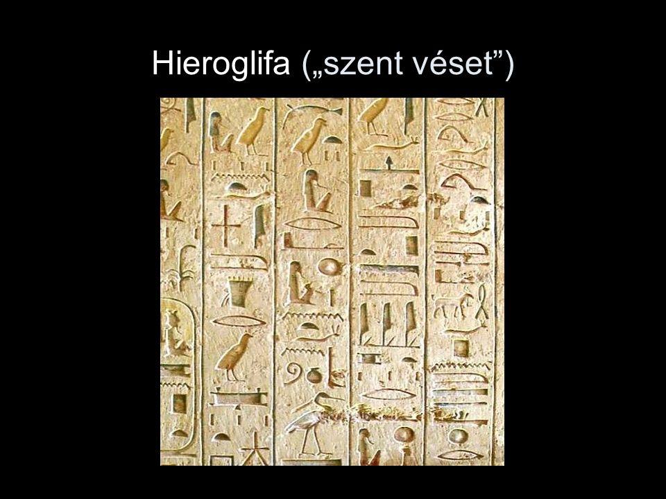 """Hieroglifa (""""szent véset"""")"""