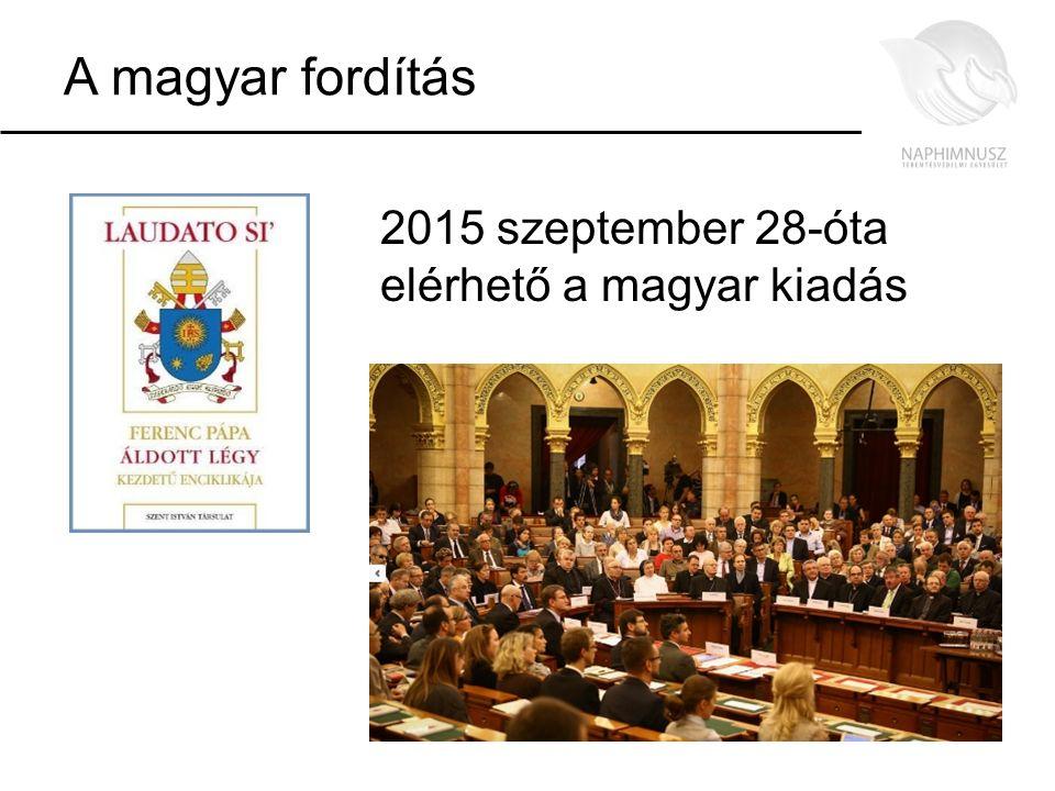 A magyar fordítás 2015 szeptember 28-óta elérhető a magyar kiadás