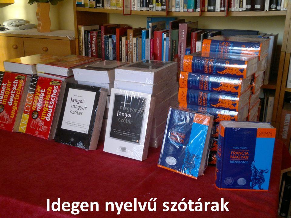 Idegen nyelvű szótárak