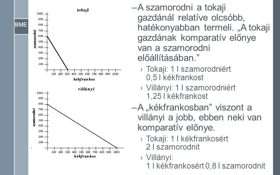 """BME –A szamorodni a tokaji gazdánál relatíve olcsóbb, hatékonyabban termeli. """"A tokaji gazdának komparatív előnye van a szamorodni előállításában."""" ›T"""