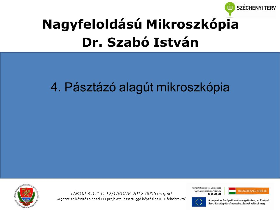 Nagyfeloldású Mikroszkópia Dr. Szabó István 4.