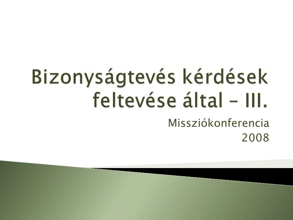Missziókonferencia 2008