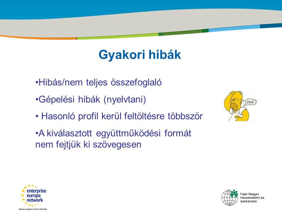 Title of the presentation | Date |‹#› Gyakori hibák Hibás/nem teljes összefoglaló Gépelési hibák (nyelvtani) Hasonló profil kerül feltöltésre többször