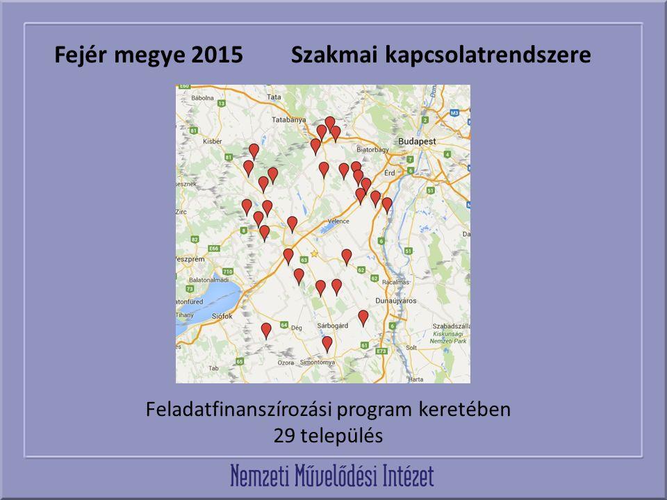 Fejér megye 2015 Szakmai kapcsolatrendszere Feladatfinanszírozási program keretében 29 település