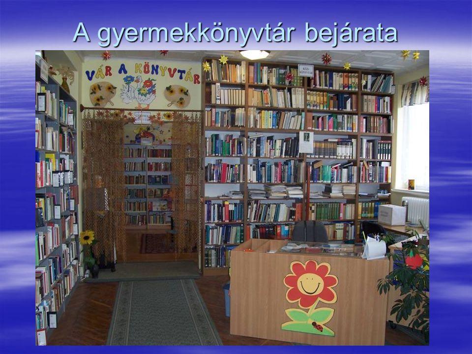 A gyermekkönyvtár bejárata