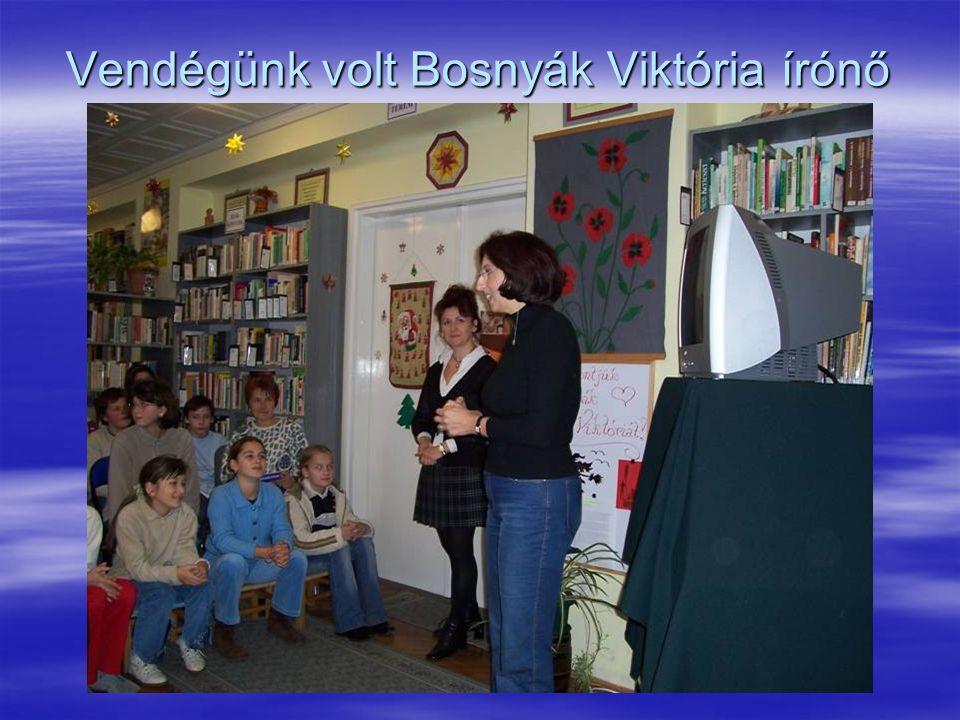 Vendégünk volt Bosnyák Viktória írónő