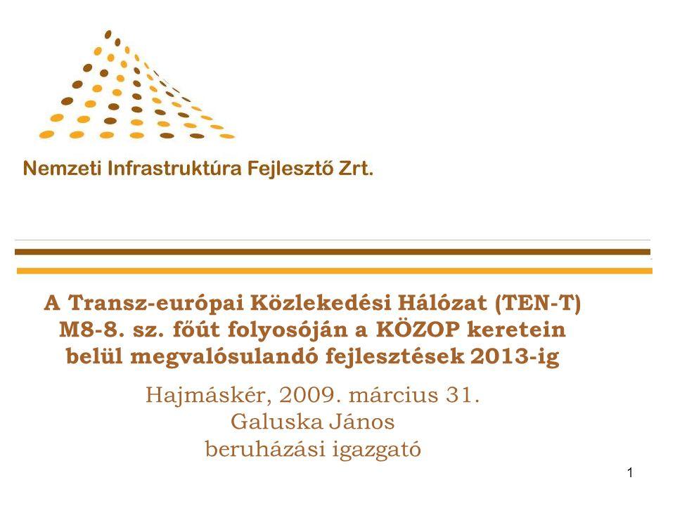 1 A Transz-európai Közlekedési Hálózat (TEN-T) M8-8.