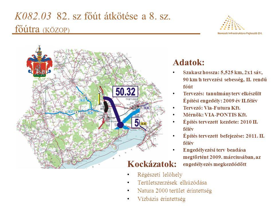 K082.03 82.sz főút átkötése a 8. sz.