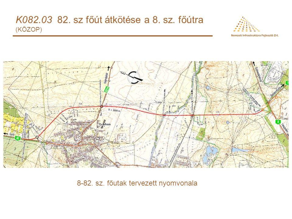 K082.03 82. sz főút átkötése a 8. sz. főútra (KÖZOP) 8-82. sz. főutak tervezett nyomvonala