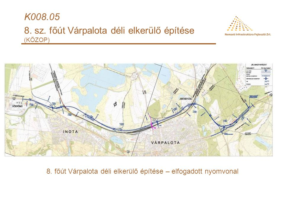 8.sz.főút Várpalota-Veszprém 31+500-57+ 1 00 km sz.