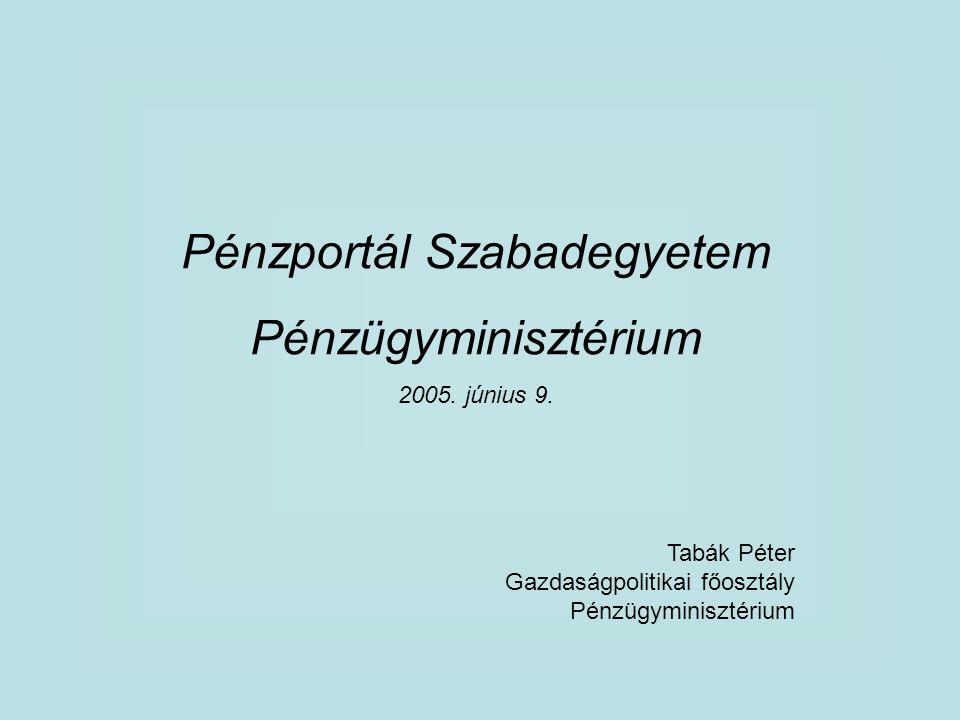 Pénzportál Szabadegyetem Pénzügyminisztérium 2005.