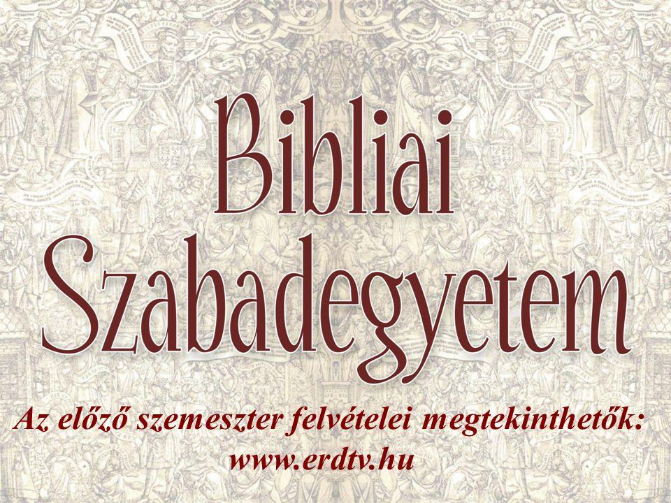 Az előző szemeszter felvételei megtekinthetők: www.erdtv.hu