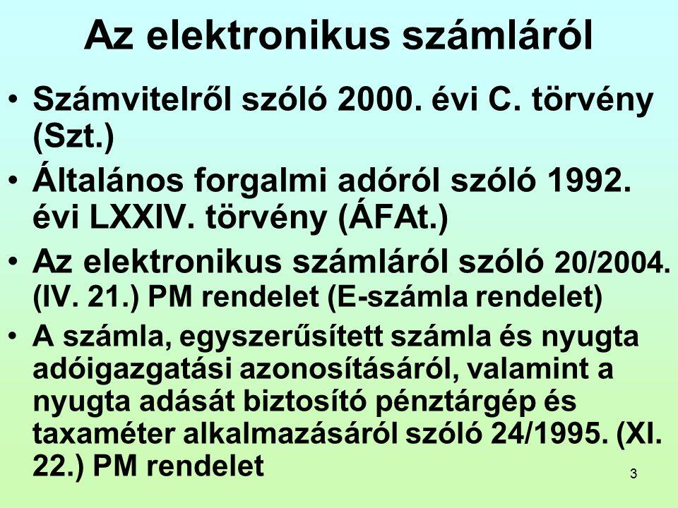 4 A digitális archiválásról Az elektronikus aláírásról szóló 2001.