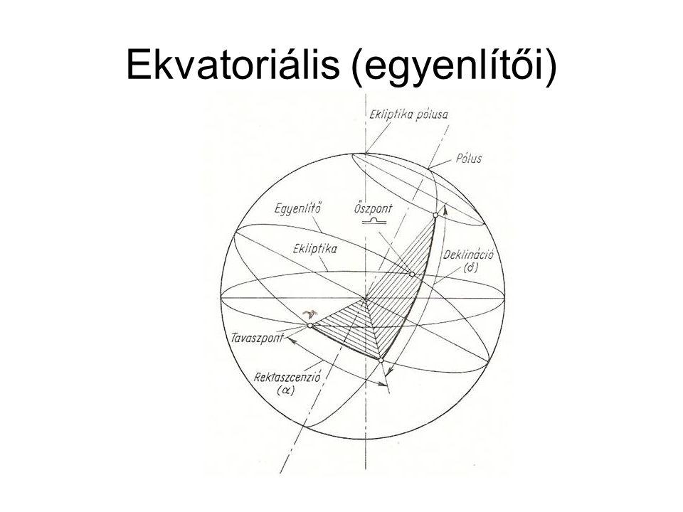 Ekvatoriális (egyenlítői)