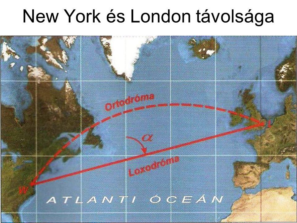 New York és London távolsága