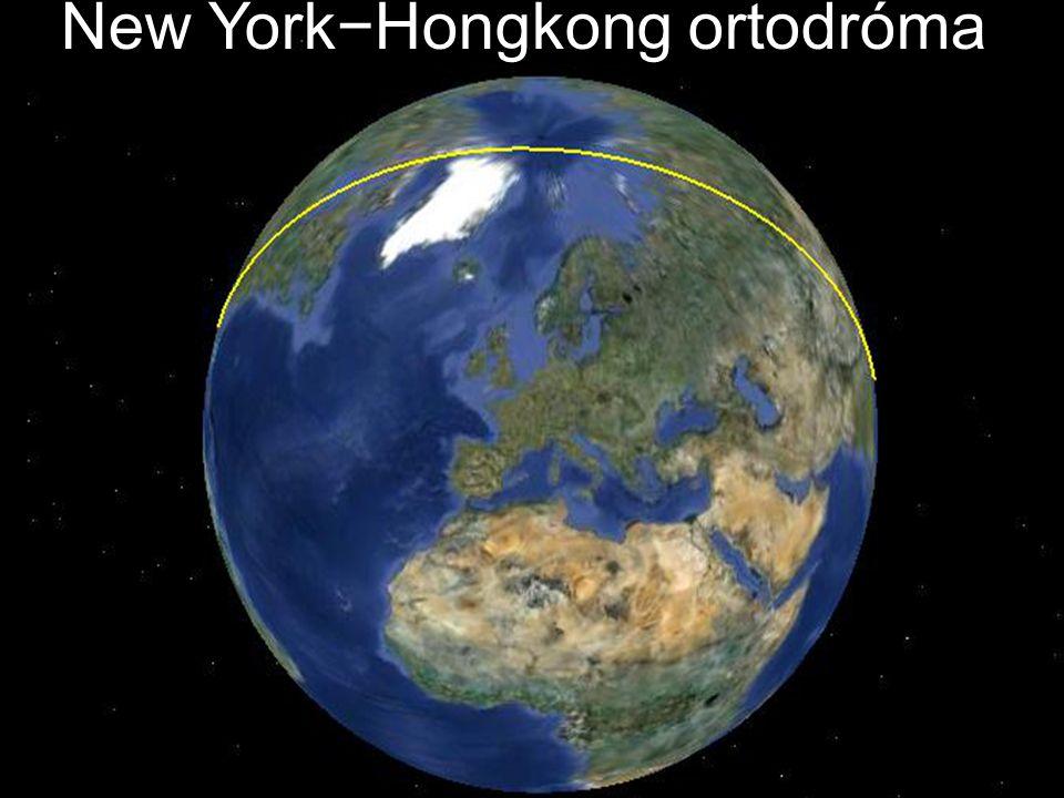 New York−Hongkong ortodróma