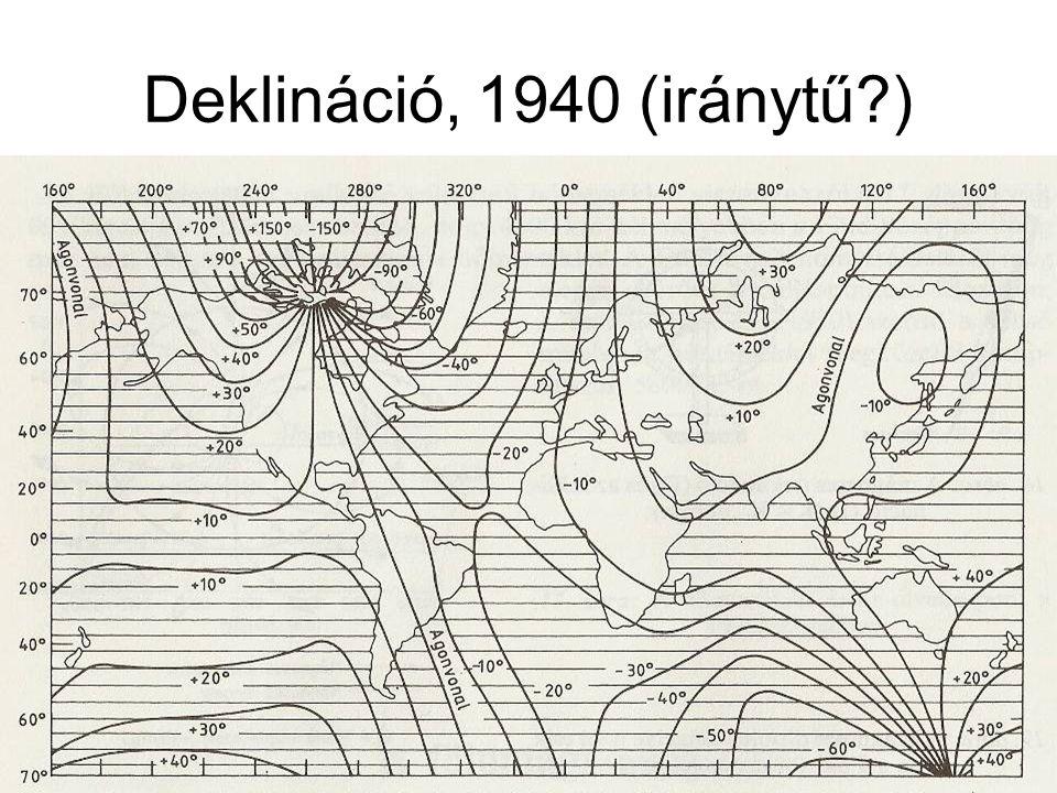 Deklináció, 1940 (iránytű?)