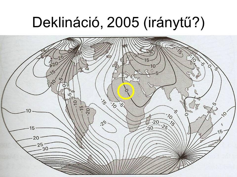 Deklináció, 2005 (iránytű?) 