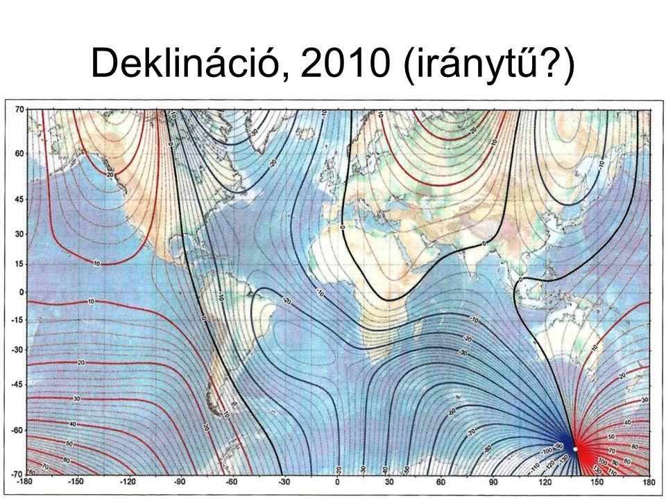 Deklináció, 2010 (iránytű )