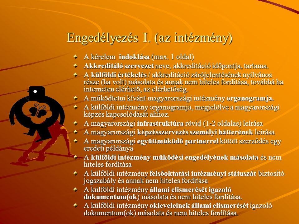 Engedélyezés II.