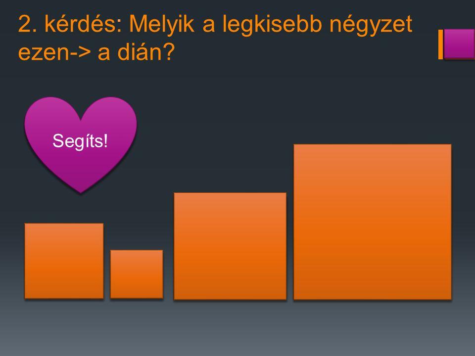 2. kérdés: Melyik a legkisebb négyzet ezen-> a dián? Segíts!