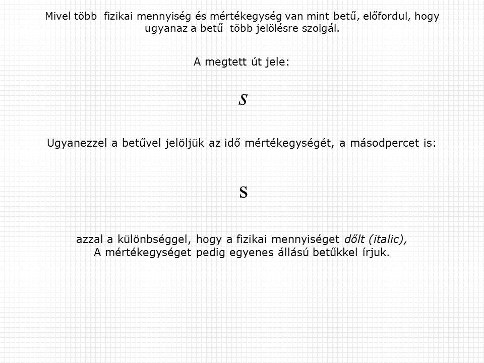 A mértékegységek előszóinak jelentése Előszót (prefixumot ) lehet hozzátenni a mértékegységekhez, hogy az eredeti egység valahányszorosaihoz jussunk.