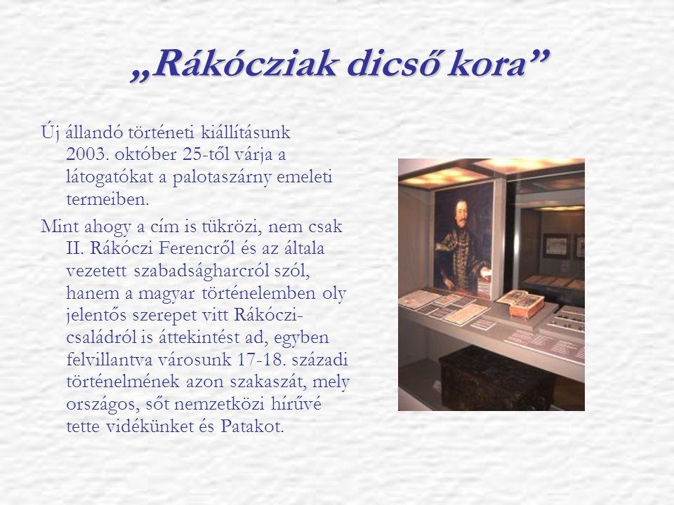 """""""Rákócziak dicső kora"""" Új állandó történeti kiállításunk 2003. október 25-től várja a látogatókat a palotaszárny emeleti termeiben. Mint ahogy a cím i"""