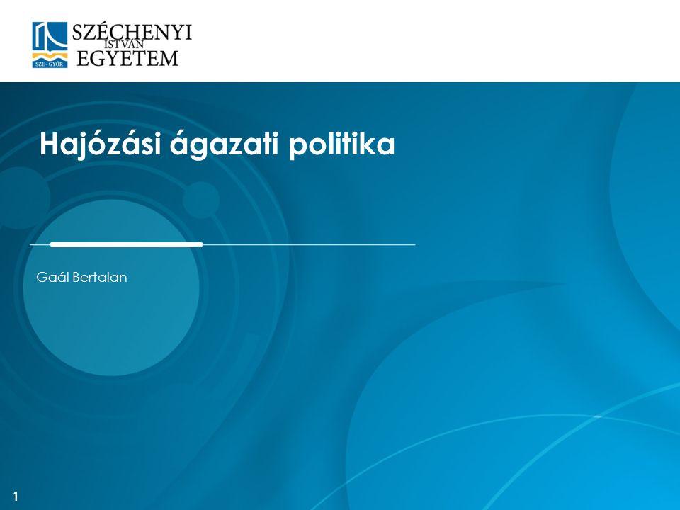 Magyar közlekedéspolitika 2003-15 Megállapítja: a szállítási kapacitás növelésének legfőbb akadálya a nem megfelelő paraméterű vízi út Célul tűzi ki: a hajózhatóság feltételeinek javítását és az országos közforgalmú kikötőhálózat (OKK) alapinfrastruktúrájának fejlesztését 12
