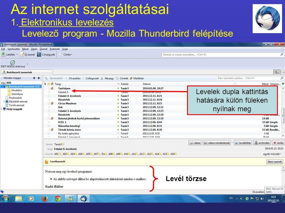Az internet szolgáltatásai 1.