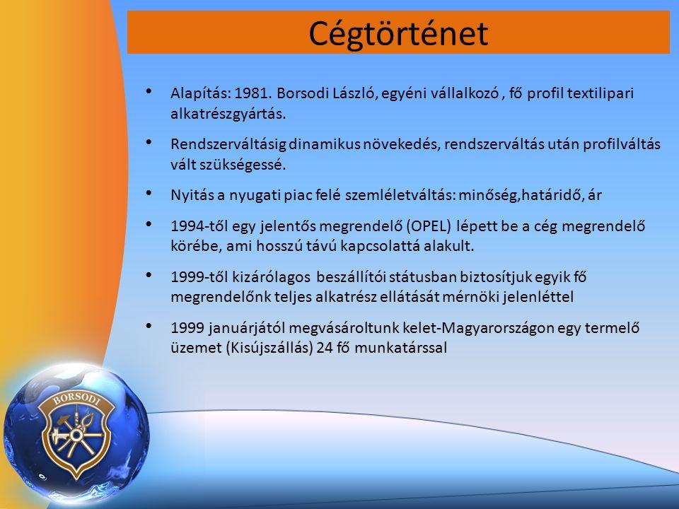 Cégtörténet Alapítás: 1981.