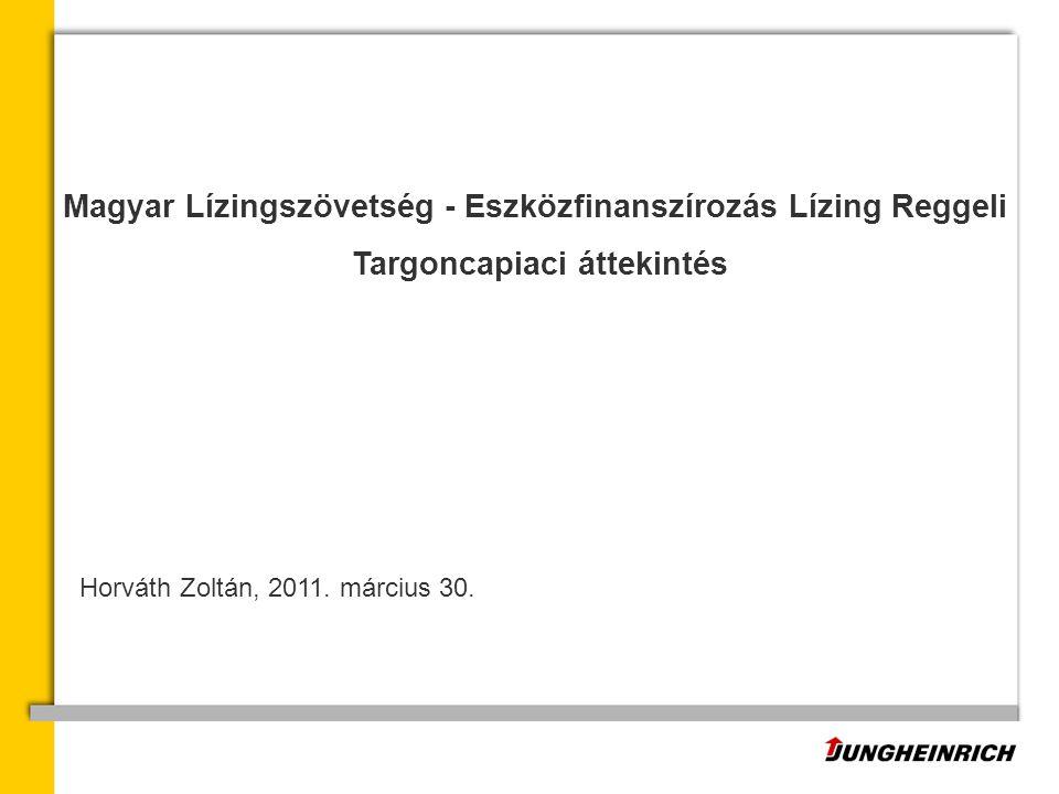 Magyar Lízingszövetség - Eszközfinanszírozás Lízing Reggeli Targoncapiaci áttekintés Horváth Zoltán, 2011.