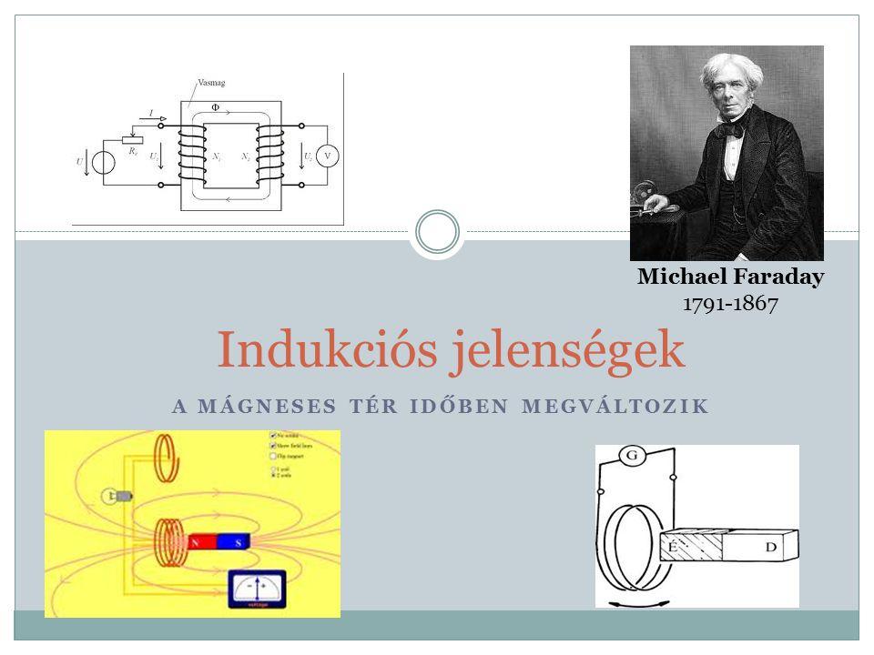 A MÁGNESES TÉR IDŐBEN MEGVÁLTOZIK Indukciós jelenségek Michael Faraday 1791-1867