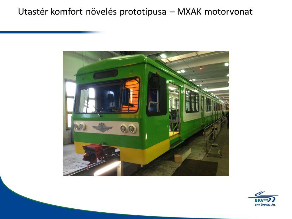 Utastér komfort növelés prototípusa – MXAK motorvonat