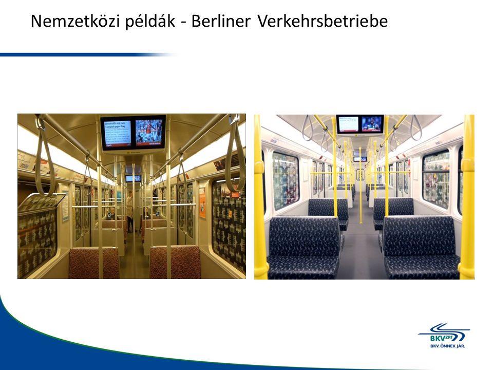 Nemzetközi példák - Berliner Verkehrsbetriebe