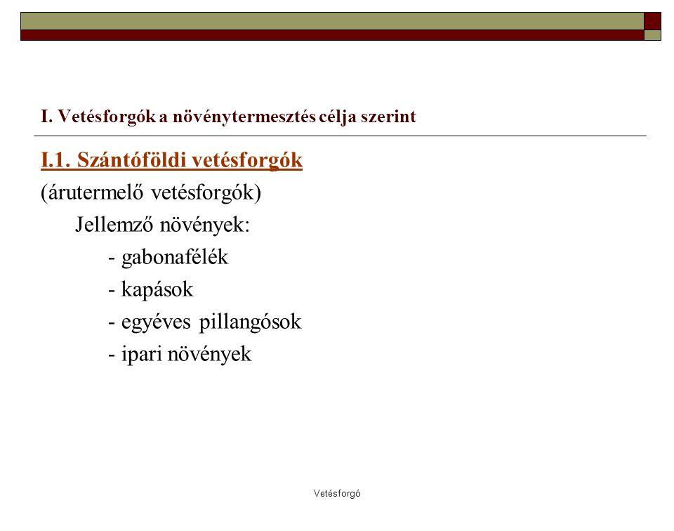 Vetésforgó Például Év Növény /I.szakaszTerület 1.