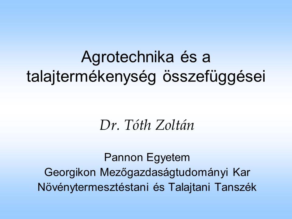Kukorica termése különböző vetésforgókban (Kismányoky és Tóth nyomán) VetésforgóArány a vetésforgóba n (%) Termés t/haRelatív termés % műtrágyázottnem műtrágyázott műtrágyázottnem műtrágyázott 1.