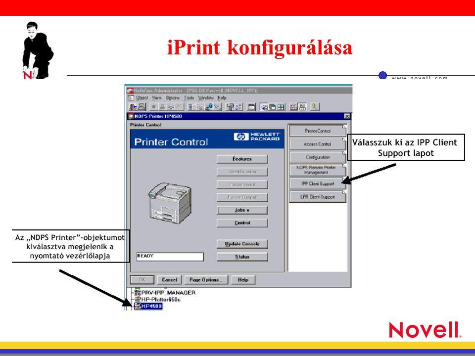 iPrint konfigurálása