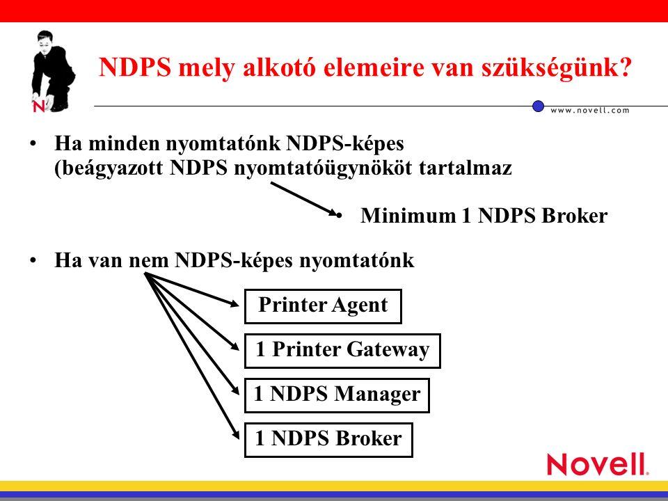 NDPS mely alkotó elemeire van szükségünk.