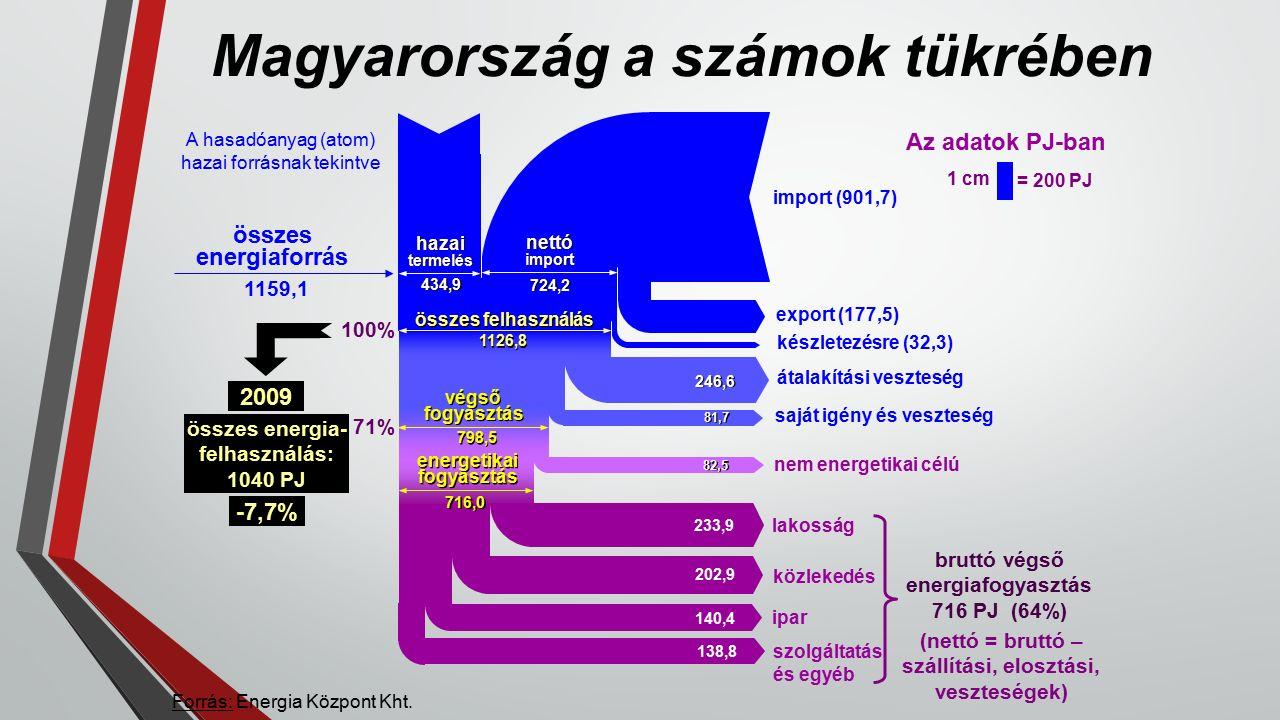 Magyarország a számok tükrében Forrás: Energia Központ Kht.