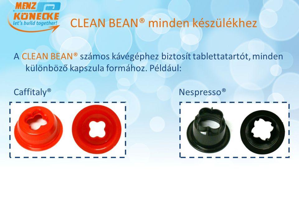 A CLEAN BEAN® számos kávégéphez biztosít tablettatartót, minden különböző kapszula formához.