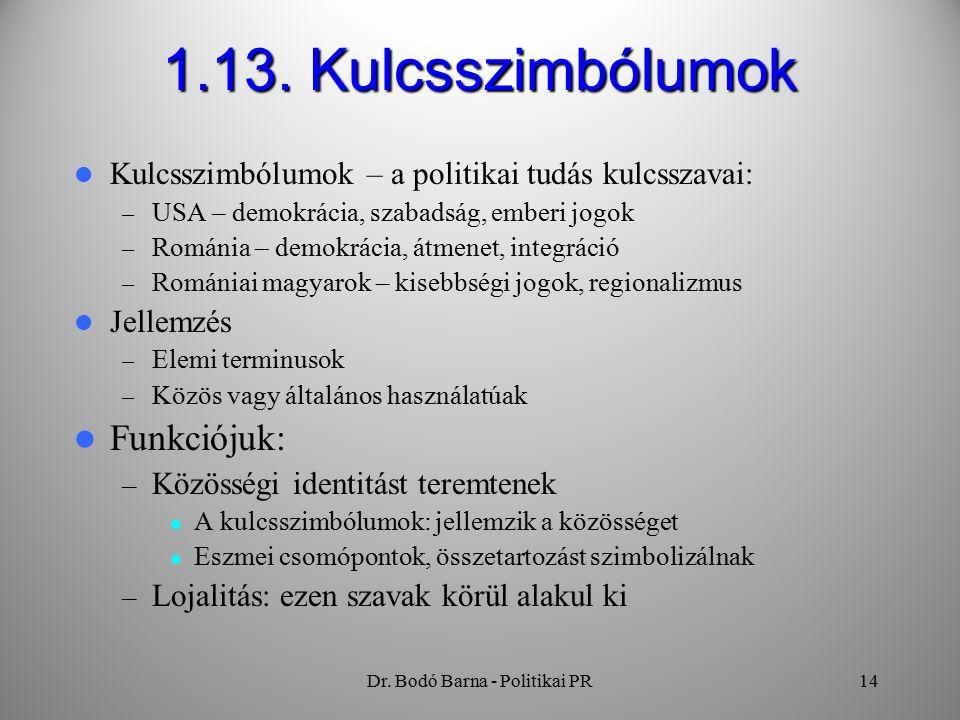 Dr. Bodó Barna - Politikai PR14 1.13.