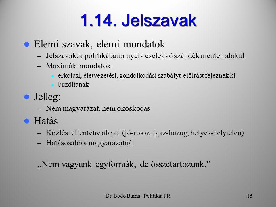 Dr. Bodó Barna - Politikai PR15 1.14.