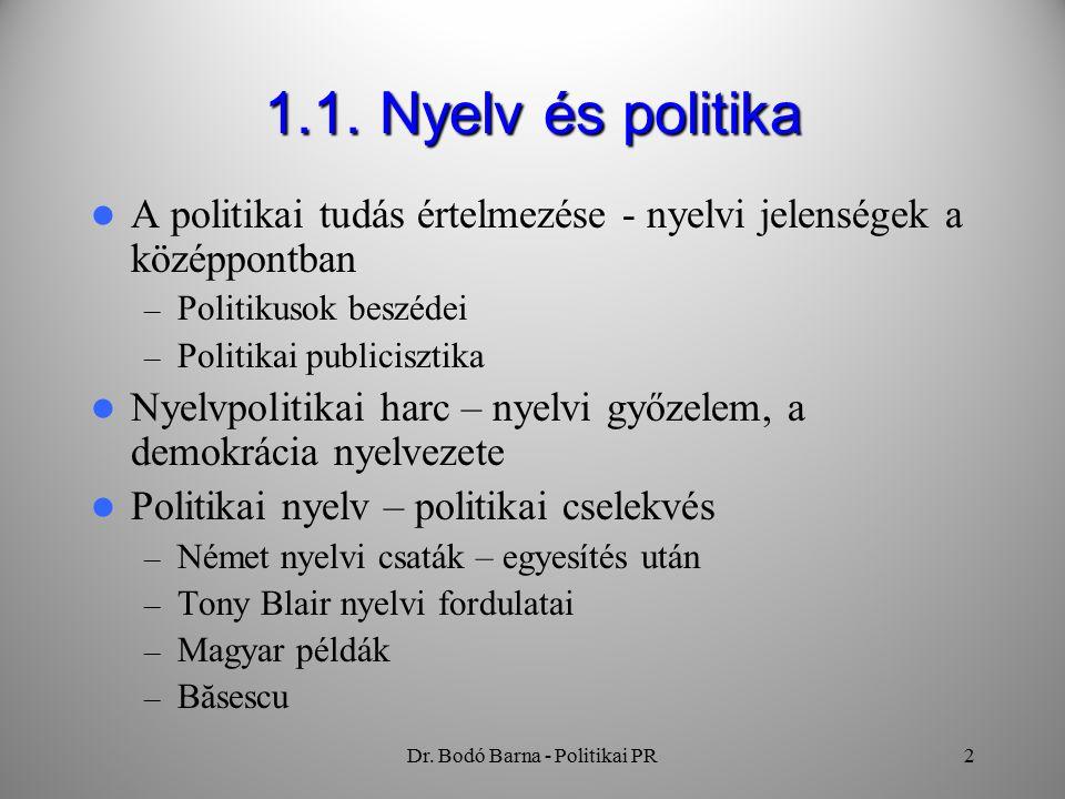 Dr. Bodó Barna - Politikai PR2 1.1.