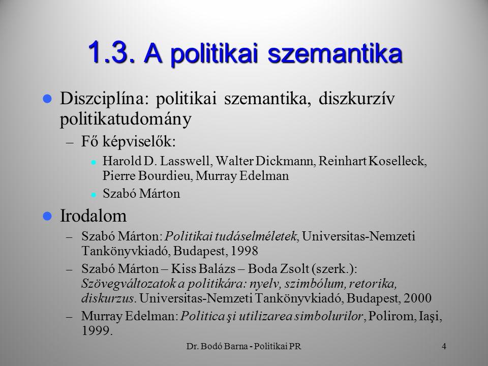 Dr. Bodó Barna - Politikai PR4 1.3.