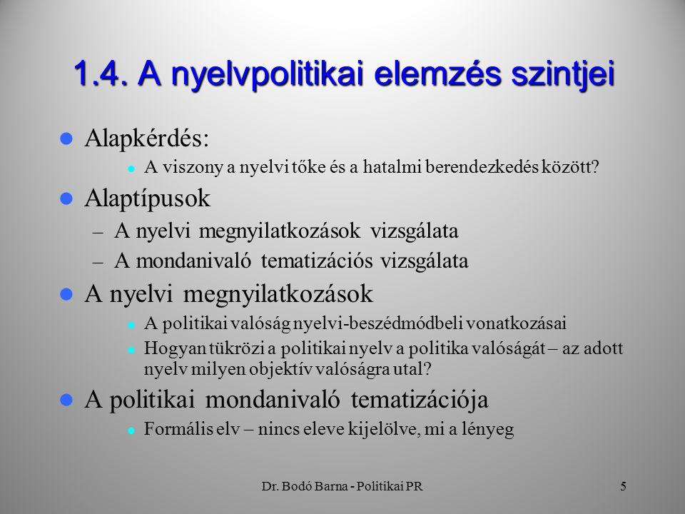 Dr. Bodó Barna - Politikai PR5 1.4.