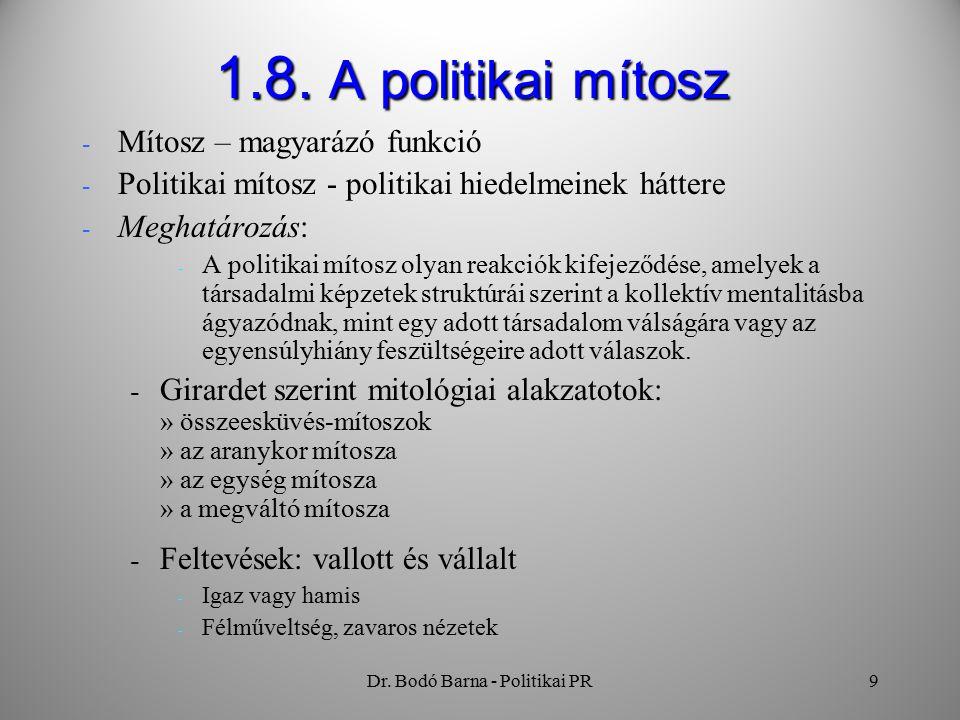 Dr. Bodó Barna - Politikai PR9 1.8.