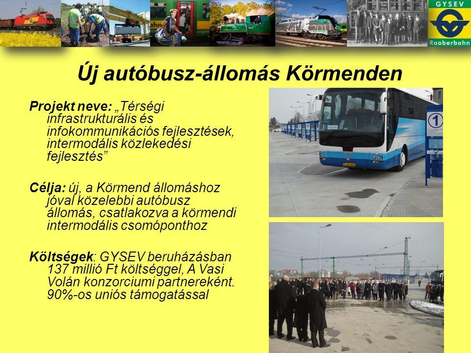 P+R (187 db) és B+R (535 db) rendszer kiépítése a Szombathely- Szentgotthárd vasútvonalon, 11 településének vasútállomásán: 3 autóbuszöböl és 1 buszváró helyiség kialakítása P+R Busz- fordulók Kerékpár- tárolók Parkoló- helyek Hozzá- vezető utak Intermodalitás