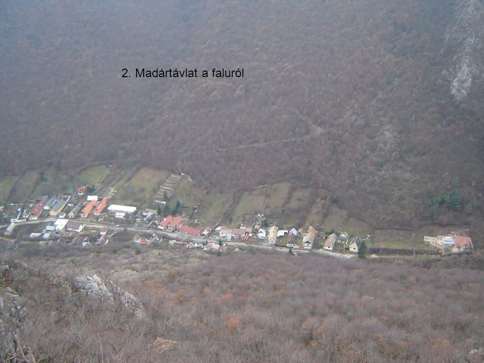 2. Madártávlat a faluról
