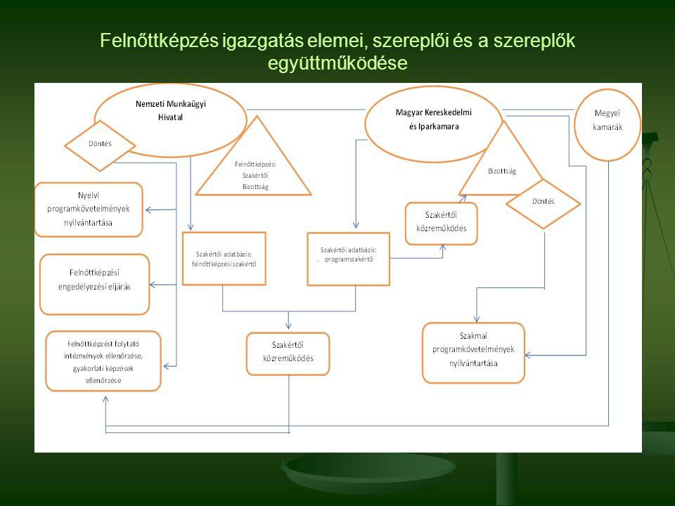Felnőttképzés igazgatás elemei, szereplői és a szereplők együttműködése