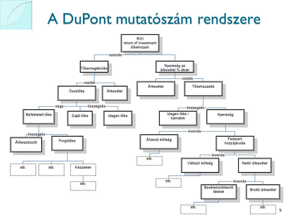 A DuPont mutatószám rendszere 9